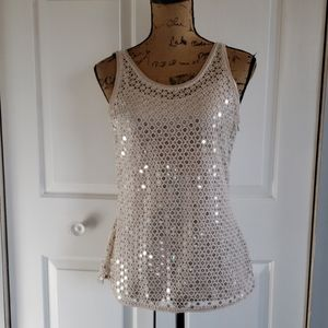 Gorgeous sequence tank top Size S